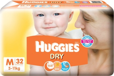 Huggies New Dry - M(32 Pieces)