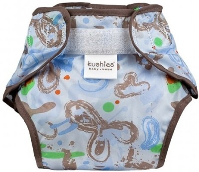 Kushies Taffeta Waterproof Diaper Wrap Milky Blue - Toddler