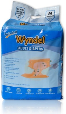 Wyndel Adult Diapers Combo of 8 Packets - Medium(80 Pieces)