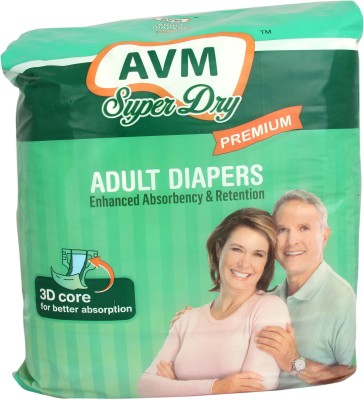 AVM SUPER DRY Premium Adult Diapers - Medium