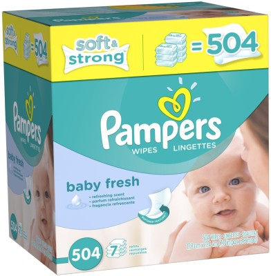Pampers Softcare Baby Fresh Wipes 7x box - Medium