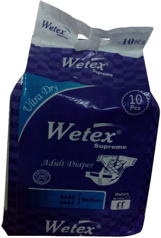 Wetex Adult Diapers Supreme - M(10 Pieces)