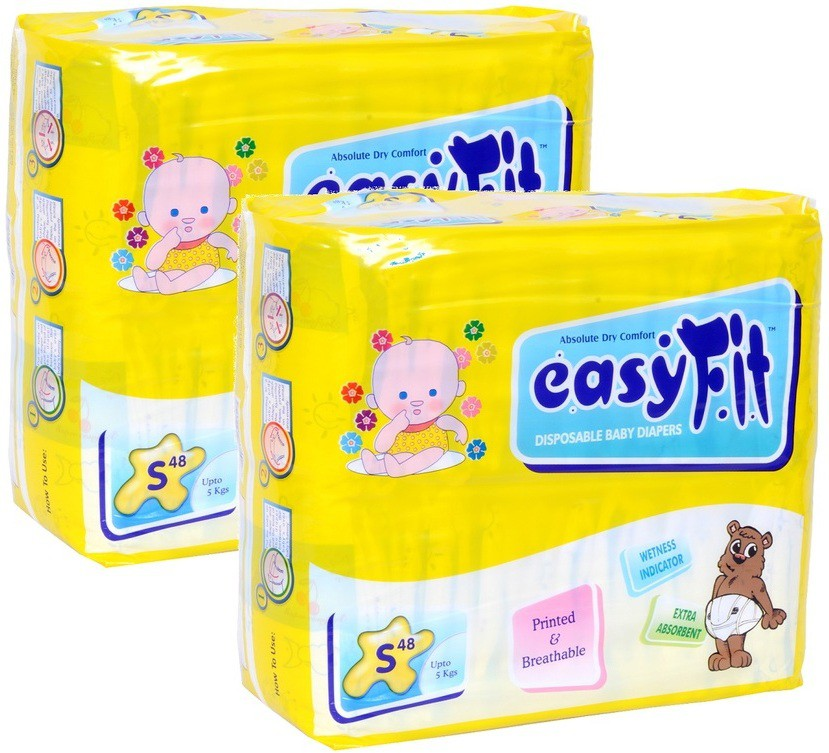 Easy Fit Baby Diaper - S(48 Pieces)