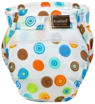 Kushies Ultra-Lite Diaper White Crazy Circles - Toddler