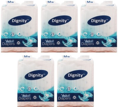 ROMSONS DIGNITY ADULT DIAPER - MEDIUM 10 PCS (SET OF 5)