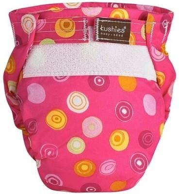 Kushies Ultra-Lite Diaper Fuchsia Crazy Circles - Infant