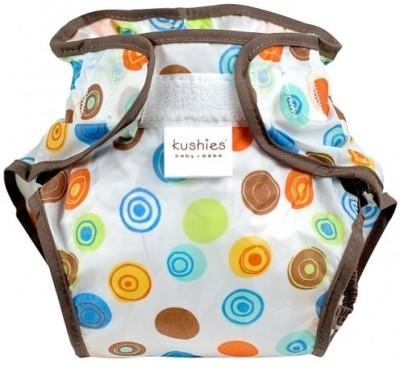 Kushies Taffeta Waterproof Diaper Wrap Crazy Circles White - Toddler