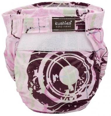Kushies Ultra-Lite Diaper Pink Distressed Circles - Toddler