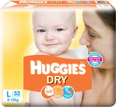 Huggies New Dry - L(52 Pieces)
