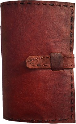 Rstore Mini Notebook(Handmade leather cover TC notebook with belt lock (6x4 inch), Multicolor)