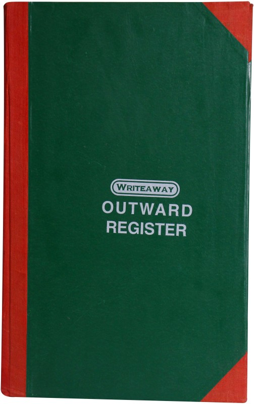 Writeaway Regular Journal(OUTWARD REGISTER (Factory Act), Multicolor)