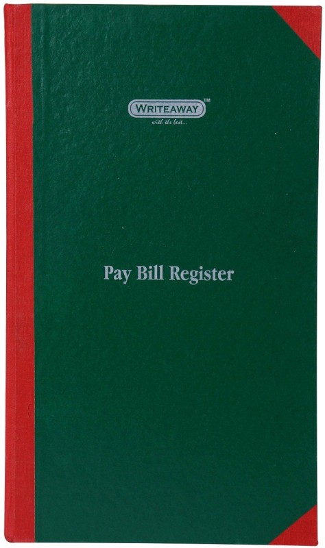 Writeaway Regular Journal(Pay Bill Register ( School Register), Multicolor)