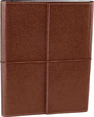 Ecoleatherette B5 Journal(Handcrafted, Dark Brown)