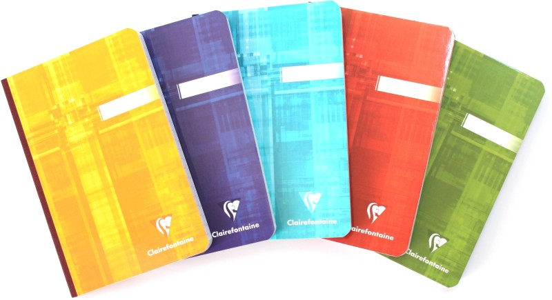 Clairefontaine Regular Notebook(170 mm x 110 mm (Set of 5), Multicolor)