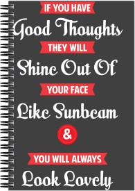 Art Emporio Good Thoughts Quote A5 Notebook Spiral Bound