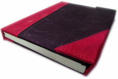 Indha Craft A6 Diary(Dupion Silk Fabric Cover, Purple, Pink)