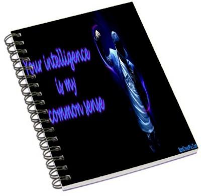 Shopmania A5 Notebook(DESIGNER PRINTED NOTEBOOK, Multicolor)