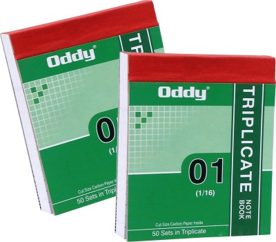 Oddy Triplicate Note Book 1/16 in 50 Set...
