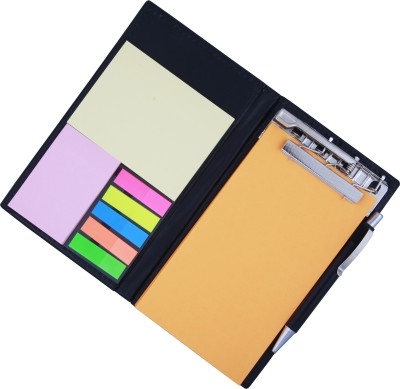 COI MEMO NEON ORANGE NOTE PAD/MEMO NOTE BOOK WITH STICKY NOTES & CLIP HOLDER IN DIARY STYLE A5 Memo Pad Soft Bound