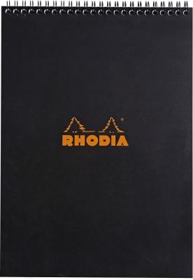 Rhodia A4 Note Pad(Classic Black - A4 - 297 mm x 210 mm, Black)