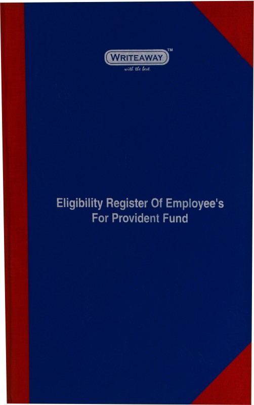Writeaway A4 Writing Pad(Eligibility Register of Employee's For Provident Fund 192 Pages(EPF Act)(Pack of 2), Multicolor, Pack of 2)