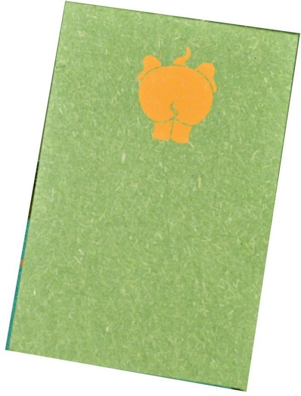 Haathi Chaap Pocket-size Note Pad(Recycled Handmade, Green)