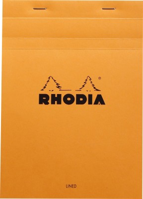 Rhodia A5 Note Pad(Basics Orange - No. 16 - A5 - 210 mm x 148 mm, Orange)