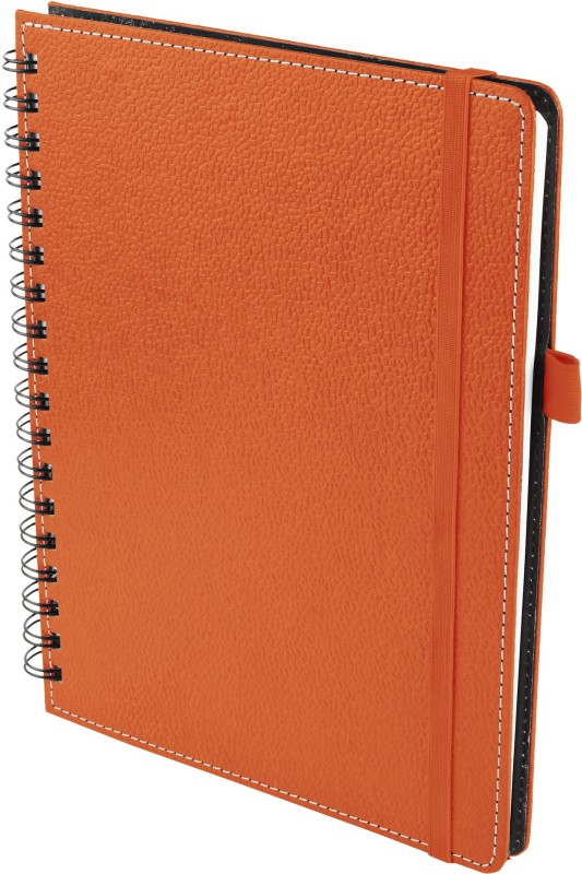 Ecoleatherette A5 Diary(Wiro, Brunt Orange)