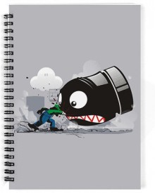 The Fappy Store Luigi Always Angry A5 Notebook Spiral Bound