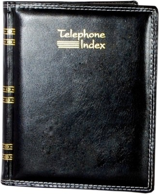 Aahum Sales Regular Telephone Diaries(Telephone Index Dairy, Black)