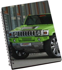 Lycans Green Hummer Awesome A5 Notebook Spiral Bound