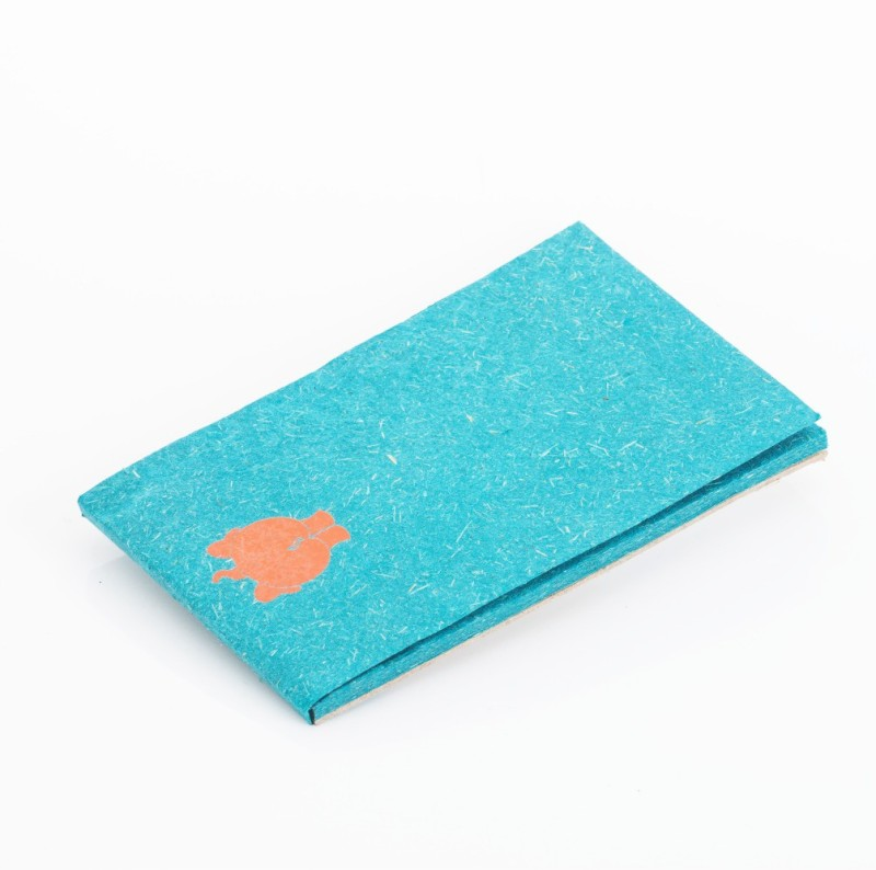Haathi Chaap Pocket-size Note Pad(Recycled Handmade, Blue)