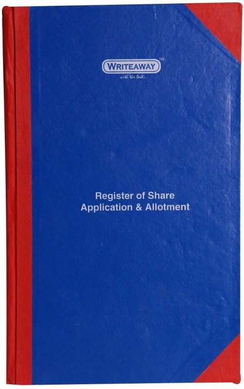 writeaway Regular Journal(Register Of Share Applications & Allotment (Company Act-1956), Multicolor)