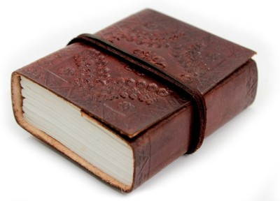 Lokalart Pocket-size Journal(Designer Leather Diary Writing Book Gift For Him 4.2 X 3.2 Inches, Brown)