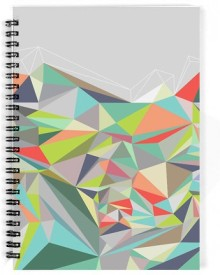 Dreambolic The Triangles Patterns A5 Notebook Spiral Bound
