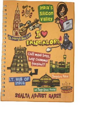 Eco Corner Small Bangalore Ruled Exercise A4 Notebook Spiral