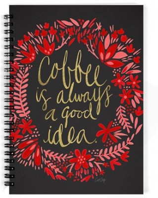 The Fappy Store A5 Notebook(Coffee Is Always A Good Idea, Black)