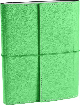 Ecoleatherette A5 Journal(Handcrafted A5 Journal, Bright green)