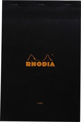 Rhodia A4 Note Pad(Basics Black - No. 19 - A4+ - 318 mm x 210 mm, Black)