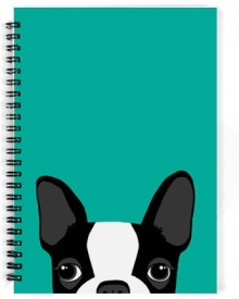 The Fappy Store Boston-Terrier A5 Notebook Spiral Bound