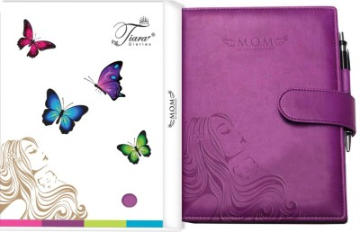 Tiara Diaries A5 Journal(Pregnancy Journal & Baby Journalcum planner & record book, Purple)