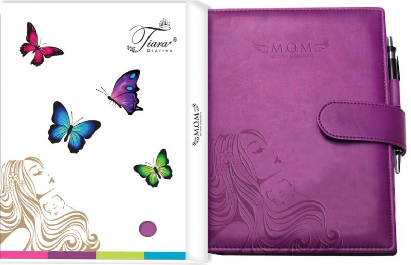Tiara Diaries A5 Journal(Pregnancy Journal & Baby Journalcum planner & record book, Purple)