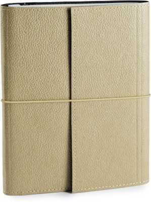 Ecoleatherette A5 Journal(Handcrafted, Beige)