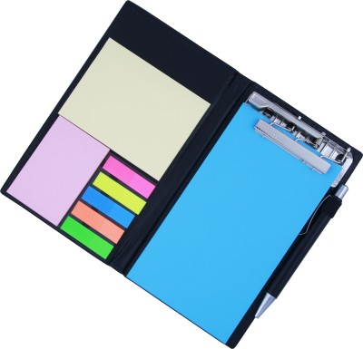 COI MEMO NEON BLUE NOTE PAD/MEMO NOTE BOOK WITH STICKY NOTES & CLIP HOLDER IN DIARY STYLE A5 Memo Pad Soft Bound