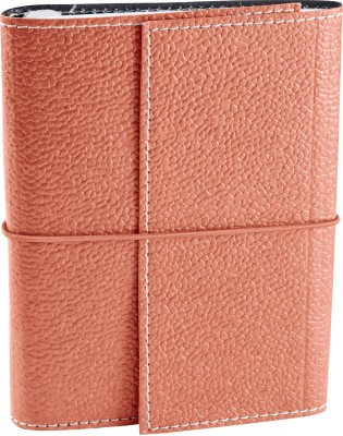 Ecoleatherette A6 Diary(Handcrafted, Sugar Coral)