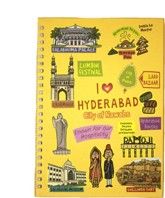Eco Corner Small Hyderabad Ruled Exercise A4 Notebook Spiral