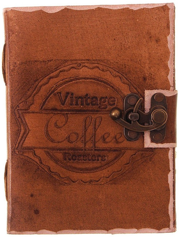 Craft Play A5 Diary(Vintage Coffee With Lock, Tan)
