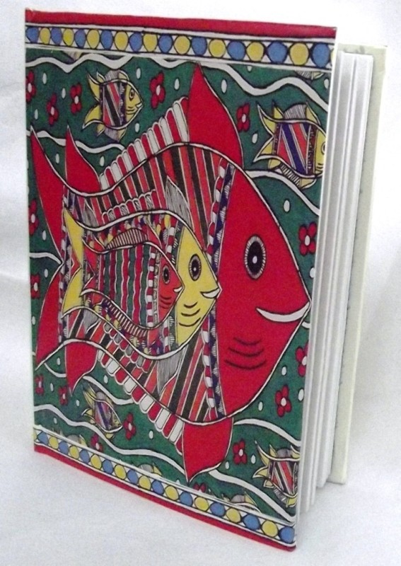 Indha Craft A6 Diary(Fish Print, Multicolor)