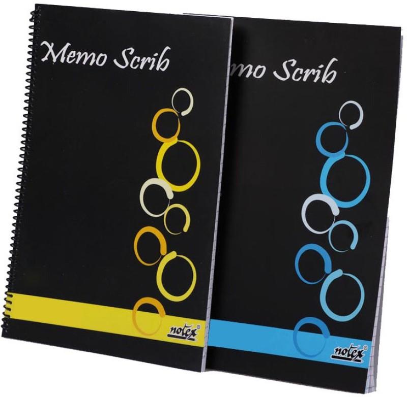 Notex A4 Memo Pad(Memo Scrib C, Black, Blue, Yellow, Pack of 6)