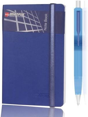 Bilt Matrix Note Book Combo with Parker Ball Pen A6 Notebook Hard Bound